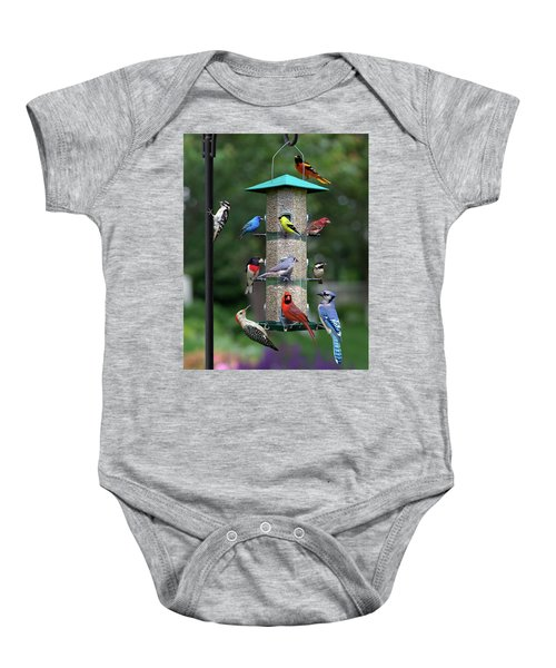 Backyard Bird Feeder Baby Onesie
