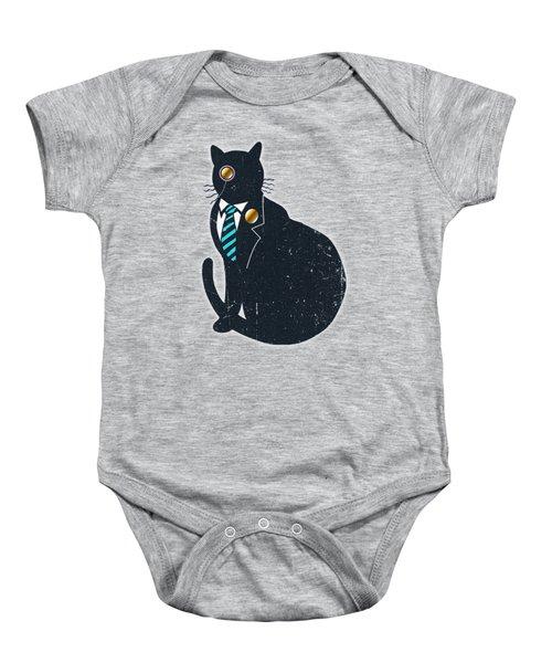 Bad Black Cat Baby Onesie by Illustratorial Pulse