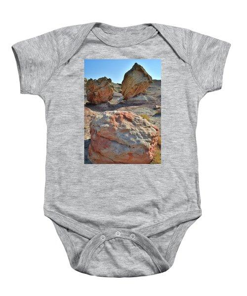 Balanced Boulders In Bentonite Site Baby Onesie