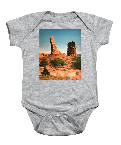 Balanced Rock At Arches National Park Baby Onesie