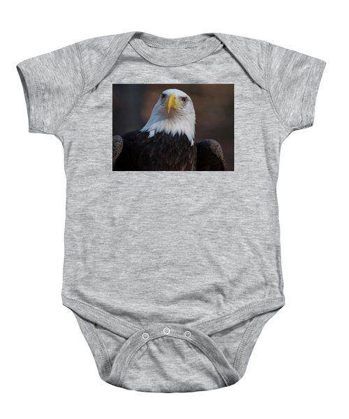 Bald Eagle Looking Right Baby Onesie