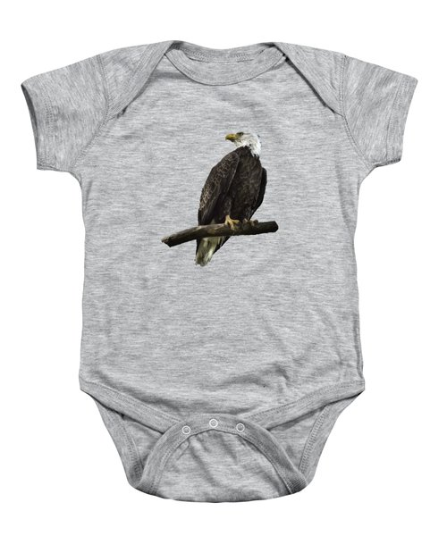 Bald Eagle Transparency Baby Onesie