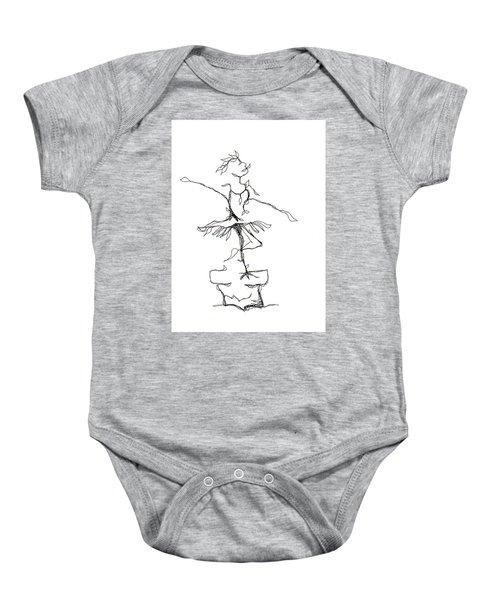 Ballerina- Cracked Pot Baby Onesie