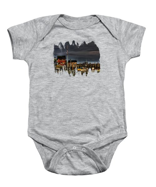 Bandon Boat Basin At Dawn Baby Onesie
