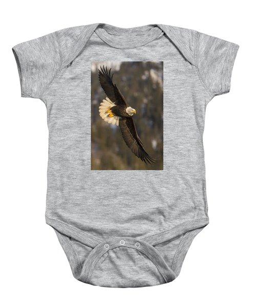 Banking Bald Eagle Baby Onesie