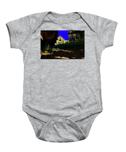 Barn From Under The Equipment Baby Onesie
