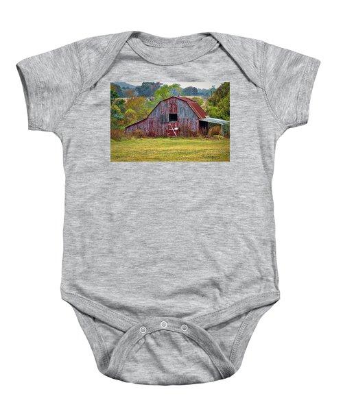 Barn On White Oak Road 2 Baby Onesie