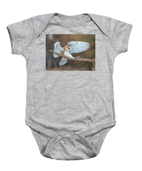 Barn Owl In Flight Baby Onesie