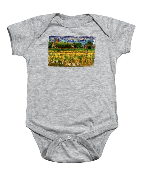Barn With Green Roof Baby Onesie