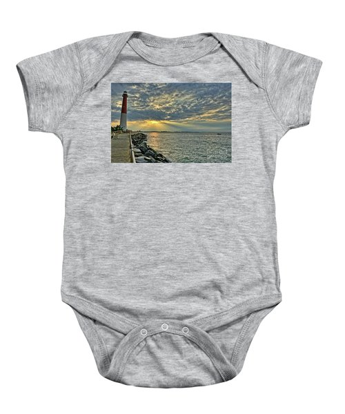 Barneget Lighthouse  New Jersey Baby Onesie
