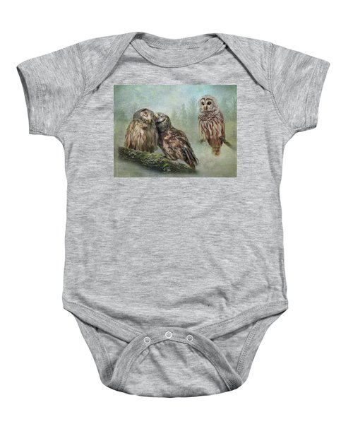 Barred Owls - Steal A Kiss Baby Onesie
