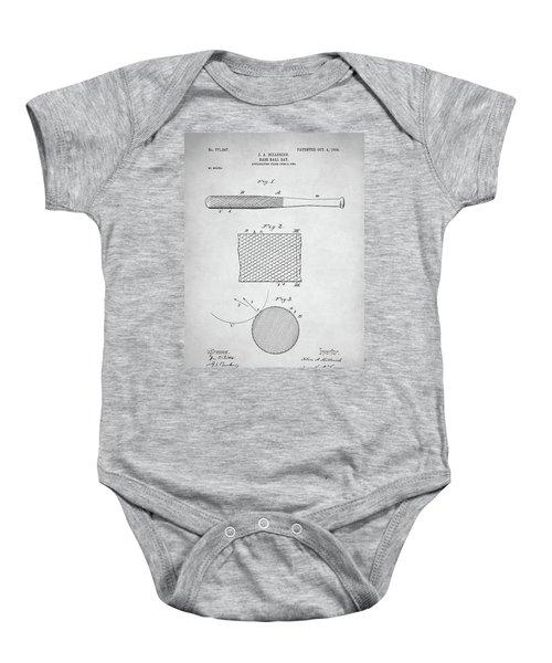 Baseball Bat Patent Baby Onesie