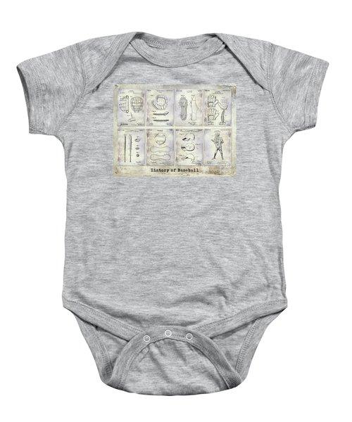 Baseball Patent History Baby Onesie