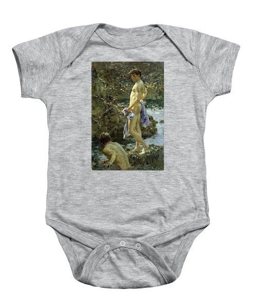 Bathing Group Of 1914 Baby Onesie