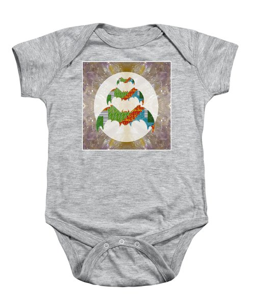 Bats Bird Ecolocater Flier Graphic Abstract Option To Download For Personal N Commercial Link Below Baby Onesie by Navin Joshi
