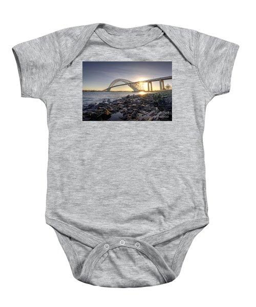 Bayonne Bridge Sunset Baby Onesie