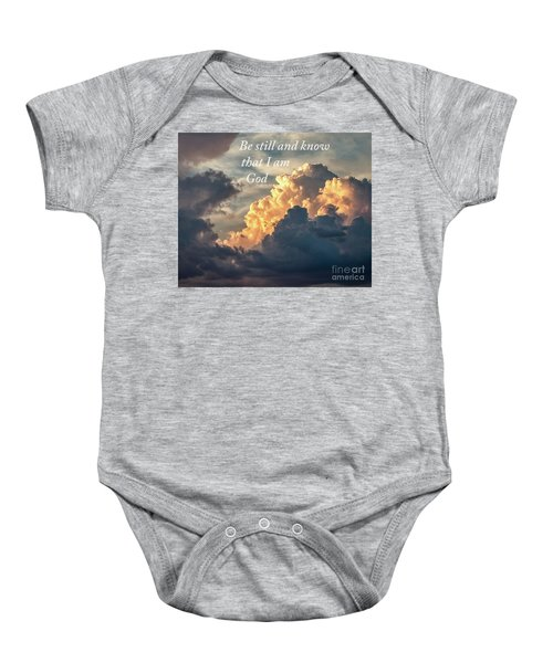 Be Still And Know Baby Onesie