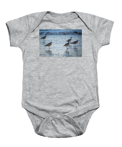 Beach Birds Baby Onesie