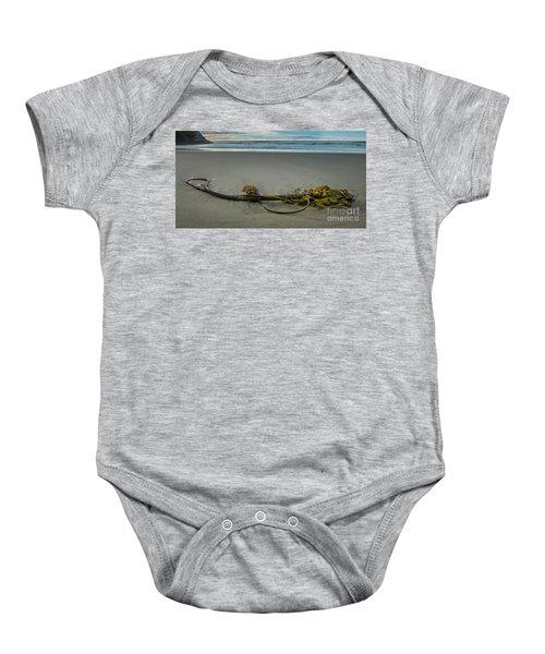 Beach Bull Kelp Laying Solo Baby Onesie