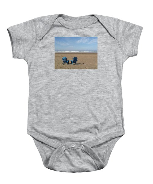 Beach Chair Pair Baby Onesie