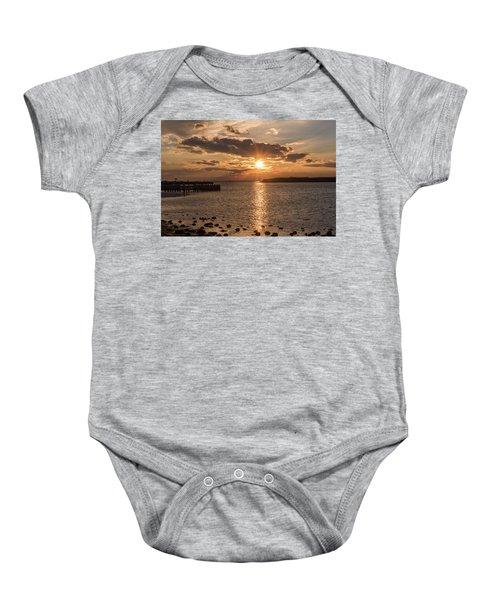 Beach Haven Nj Sunset January 2017 Baby Onesie