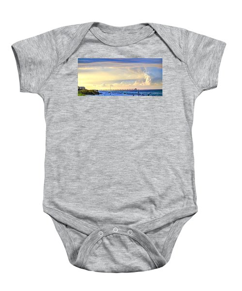Beach House Window Baby Onesie