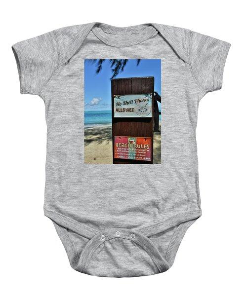 Beach Rules Baby Onesie