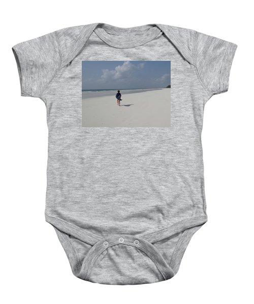 Beach Run Baby Onesie
