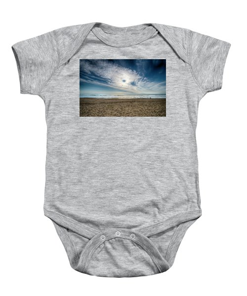 Beach Sand With Clouds - Spiagggia Di Sabbia Con Nuvole Baby Onesie