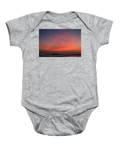 Beach Sky Blaze Baby Onesie