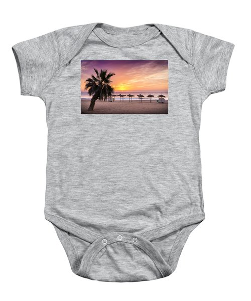Beach Sunrise. Baby Onesie