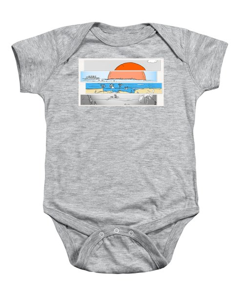 Beach Sunset Baby Onesie