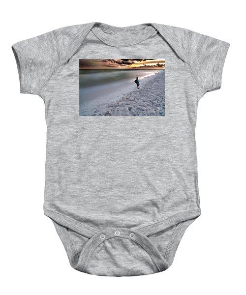 Beach Walk Baby Onesie