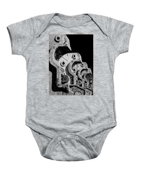 Baby Onesie featuring the photograph Beam Bender - Bw by Werner Padarin
