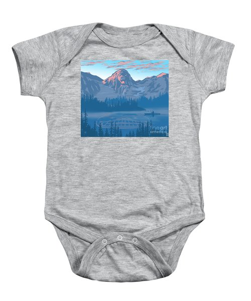 Bear Country Scenic Landscape Baby Onesie