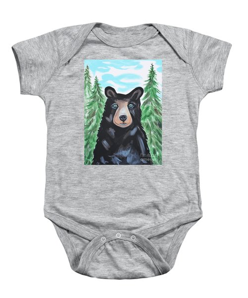 Bear In The Woods Baby Onesie