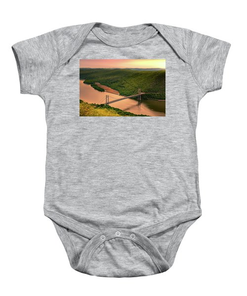 Bear Mountain Bridge Baby Onesie