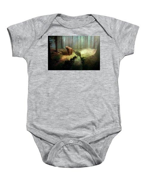 Bear Mountain Fantasy Baby Onesie