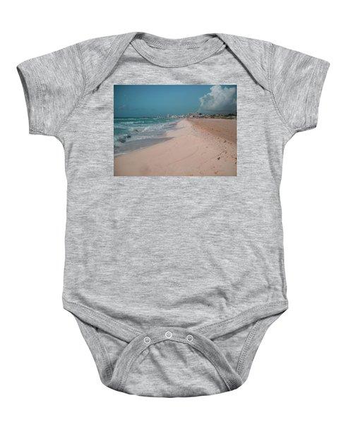 Beautiful Beach In Cancun, Mexico Baby Onesie