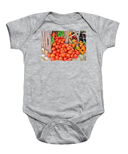 The Bountiful Harvest At The Farmer's Market Baby Onesie