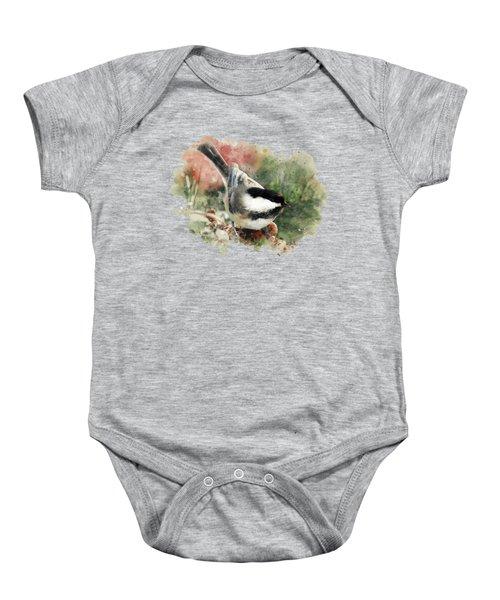 Beautiful Chickadee - Watercolor Art Baby Onesie