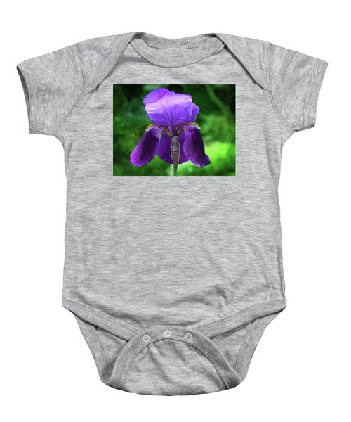 Beautiful Iris With Texture Baby Onesie