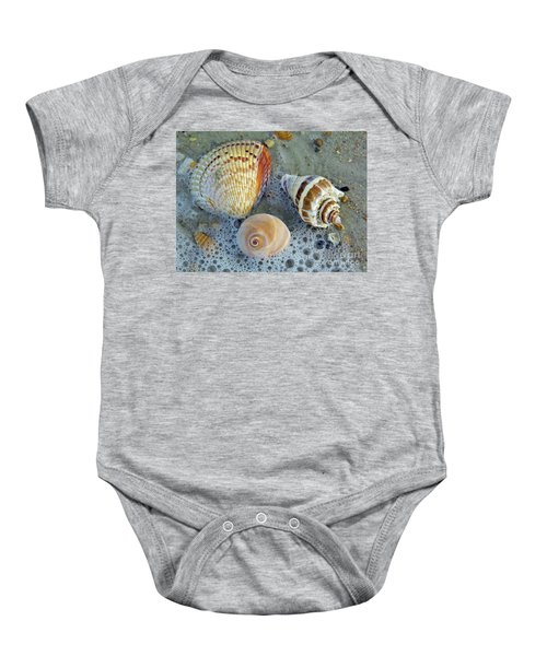 Beautiful Shells In The Surf Baby Onesie