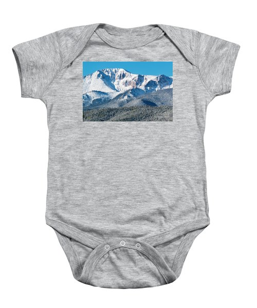 Beautiful Spring Snow On Pikes Peak Colorado Baby Onesie