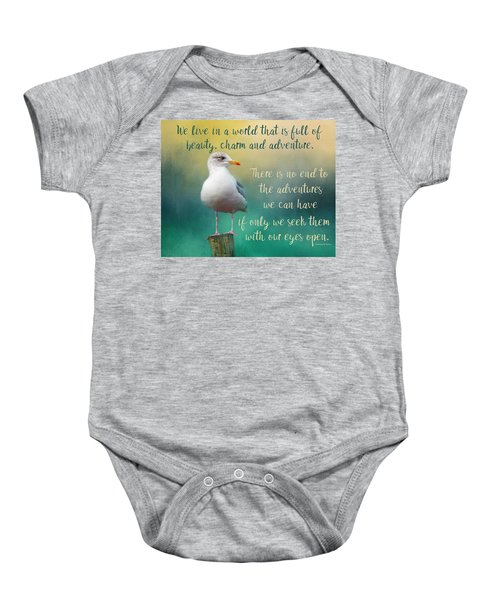 Beauty, Charm And Adventure Baby Onesie