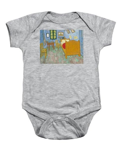 Baby Onesie featuring the painting Bedroom At Arles by Van Gogh