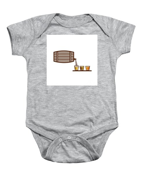 Beer Flight Keg Pouring On Glass Retro Baby Onesie