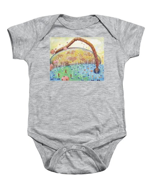 Bee's Eye And Antenna Baby Onesie