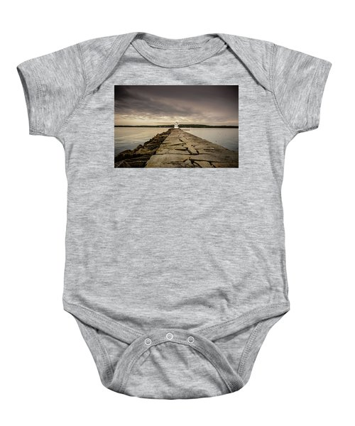 Rockland Breakwater Light Baby Onesie