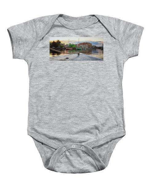 Belize City Harbor Baby Onesie